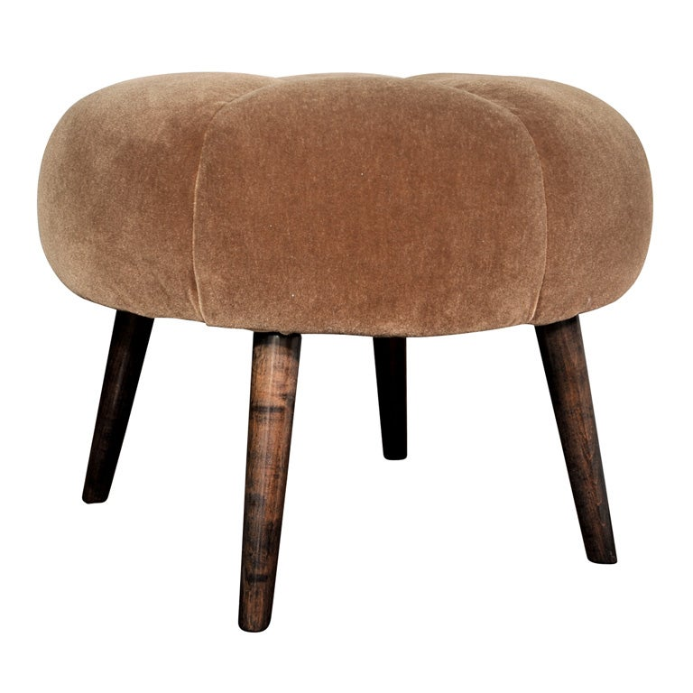 1940s Channel Tufted Vanity Stool in the Manner of Billy  : xDSC2553 from www.1stdibs.com size 768 x 768 jpeg 59kB