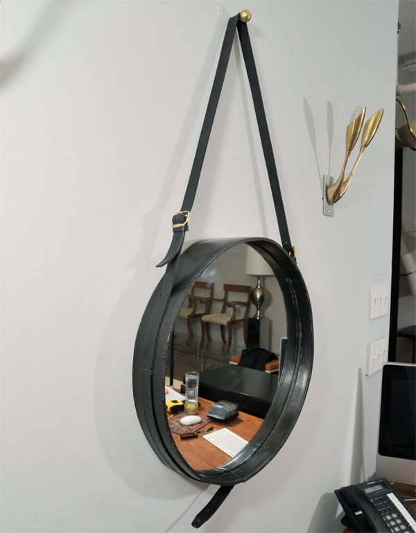 20th Century Pair of large Jacques Adnet mirrors