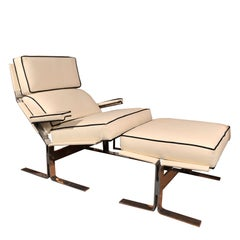 Saporiti Lounge Chair and Ottoman