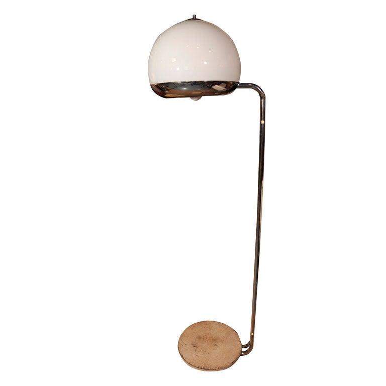 Italian Glass Floor Lamp
