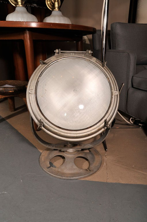 Vintage Nautical Search Light By Crouse Hinds For Sale At