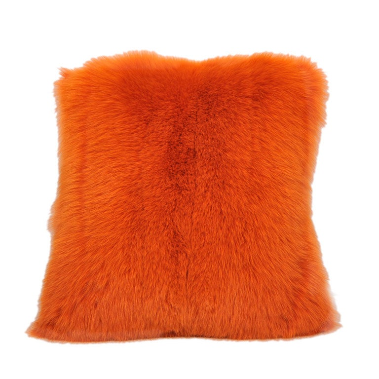 Hermes Orange Fox Pillow (2 available)