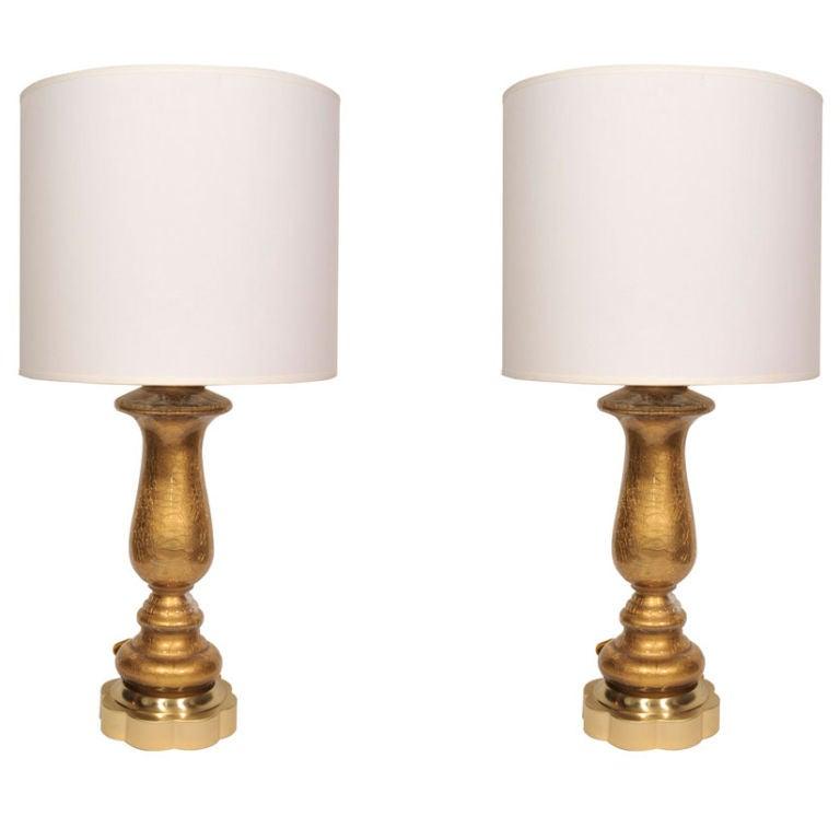Paul Hanson Reverse Painted Glass Lamps