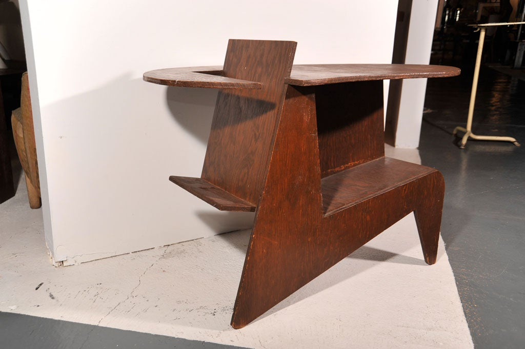 Mid-20th Century Cut Plywood End Table