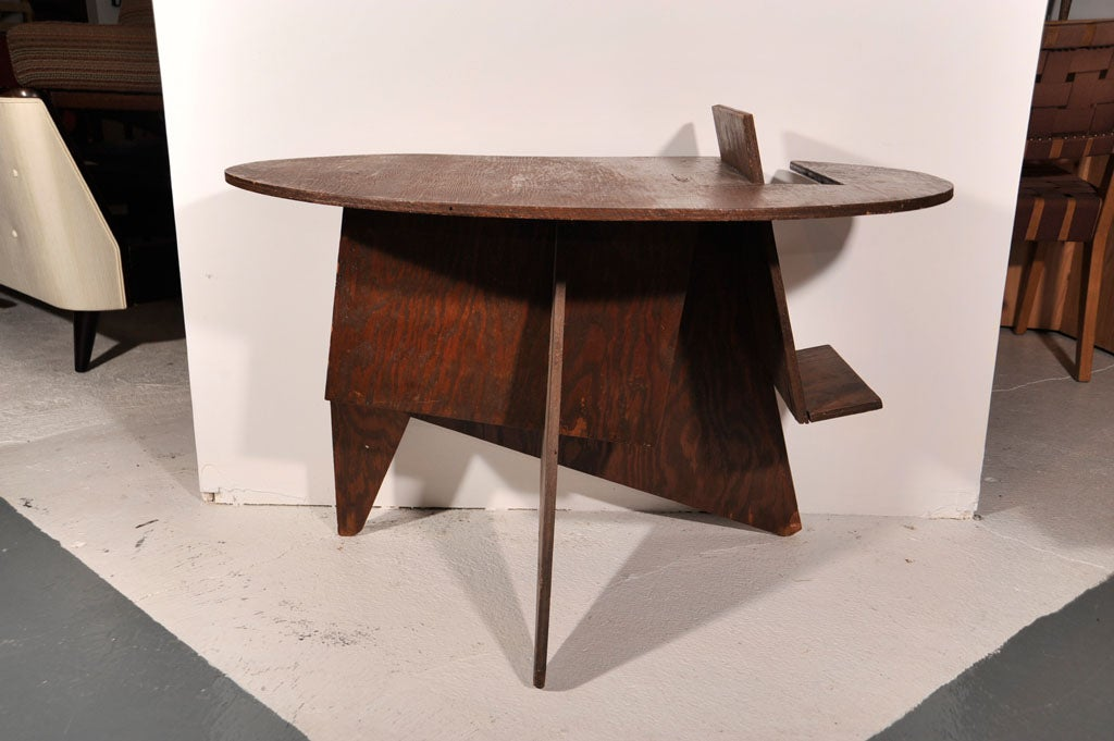 Cut Plywood End Table 2