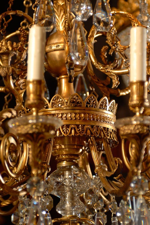 20th Century Antique Chandelier. Empire style chandelier For Sale