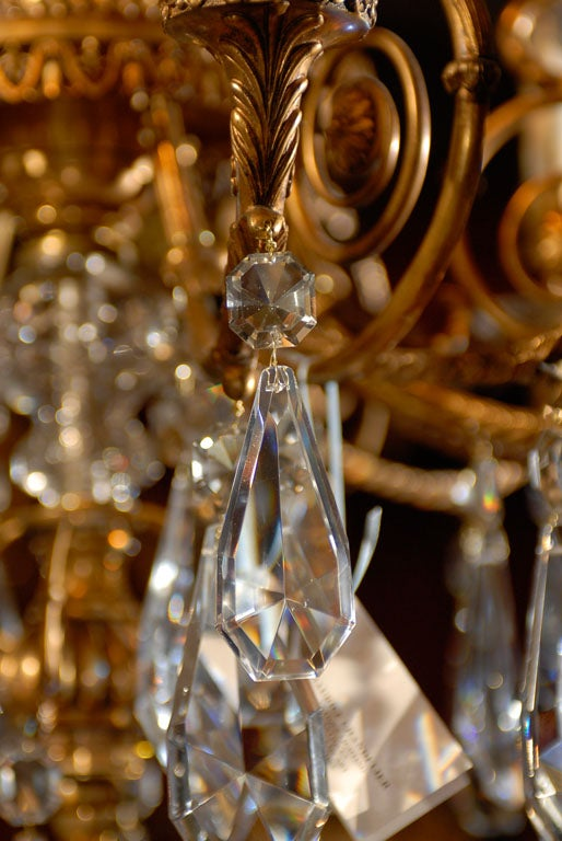 Crystal Antique Chandelier. Empire style chandelier For Sale