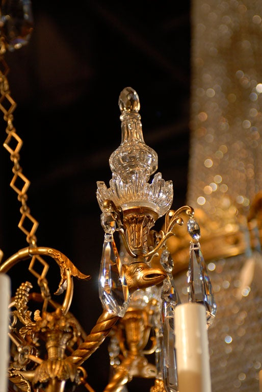 Antique Chandelier. Empire style chandelier For Sale 2