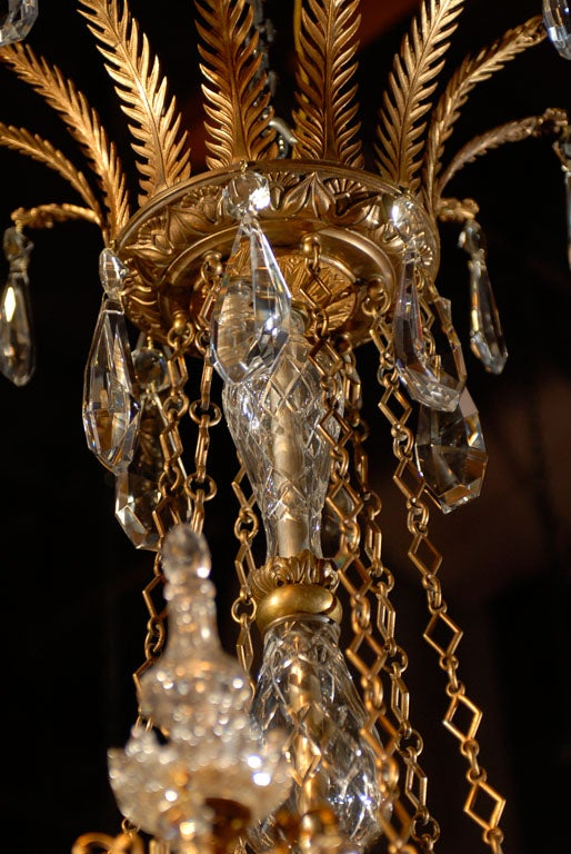 Antique Chandelier. Empire style chandelier For Sale 3
