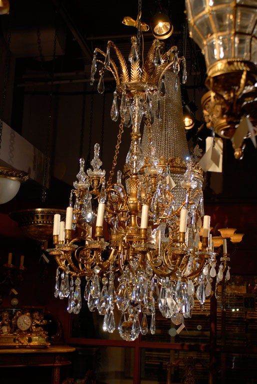 Antique Chandelier. Empire style chandelier For Sale 4