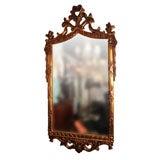 Large Copper Gilt Rococo Mirror