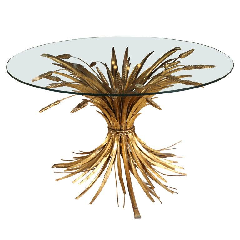 Umstead Oval Engineered Wood Coffee Table: Sheaf Of Wheat Coffee Table At 1stdibs