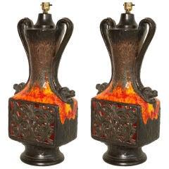 Pair of  Ceramic  Table Lamps thumbnail 1