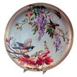 19th c. Old Paris Hard Paste Porcelain Plaque with Silver