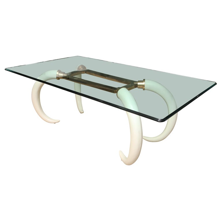 Faux Ivory Tusk and Brass Dining Table at 1stdibs : X from 1stdibs.com size 768 x 768 jpeg 23kB