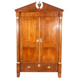 Continental Walnut Wardrobe / Linen Press