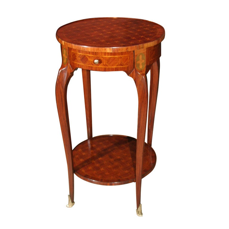Louis XV Parquetry One Drawer Stand