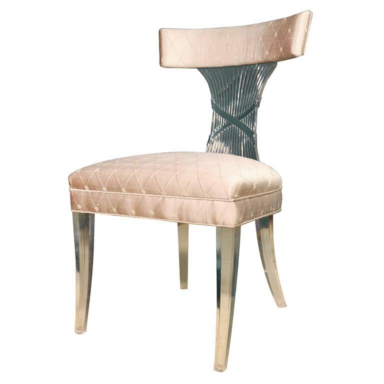 Lucite vanity stool by grosfeld house american 1930s