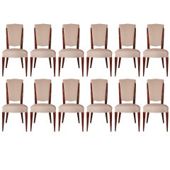 Set of 12 Art Deco Dining Chairs
