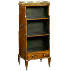 George III Miniature Double-Sided Waterfall Bookcase