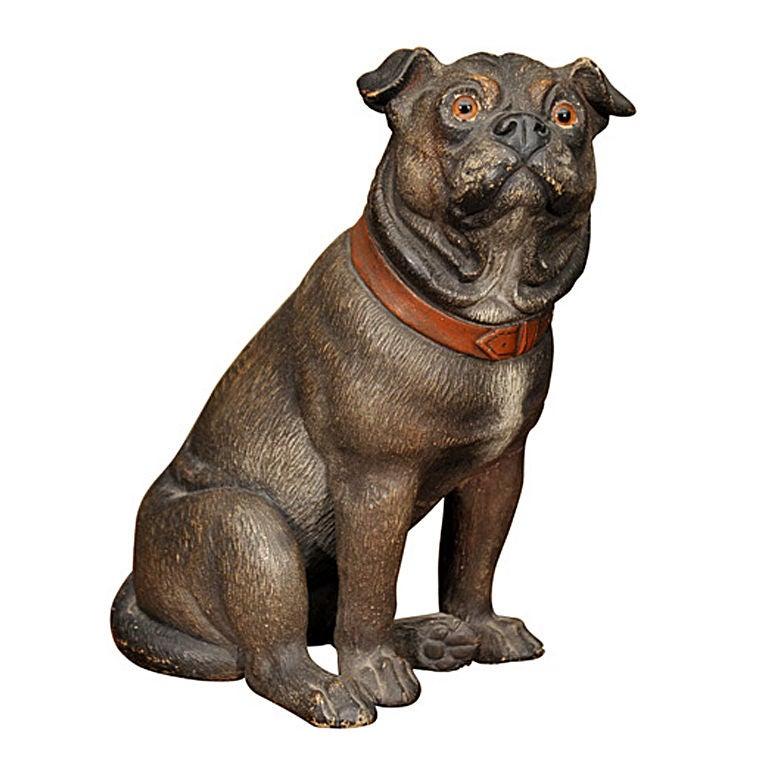 Ceramic Seated Pug Dog
