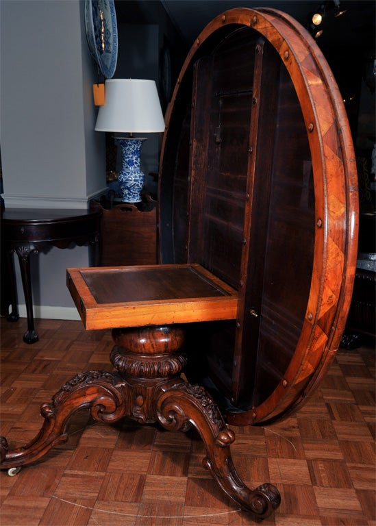 Irish Specimen Table with a Marquetry Top of Various Woods 7