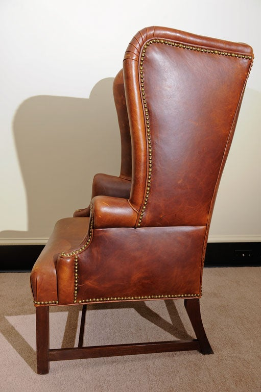 Georgian Style Wing Chair in Leather 5