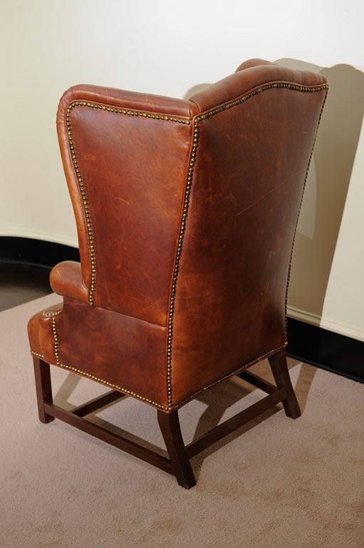 Georgian Style Wing Chair in Leather 6