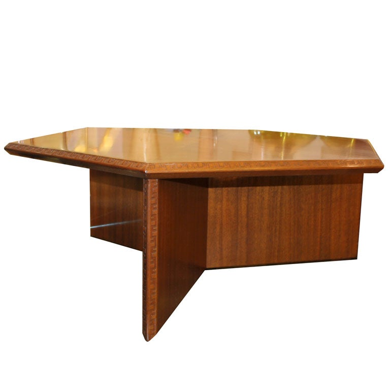 A Signed Frank Lloyd Wright Table By Henredon At 1stdibs