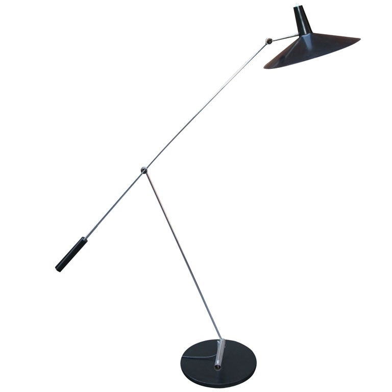 Rare 1951 Articulated Floor Lamp For Sale