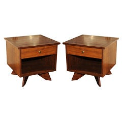 Pair of George Nakashima for Widdicomb Side Tables
