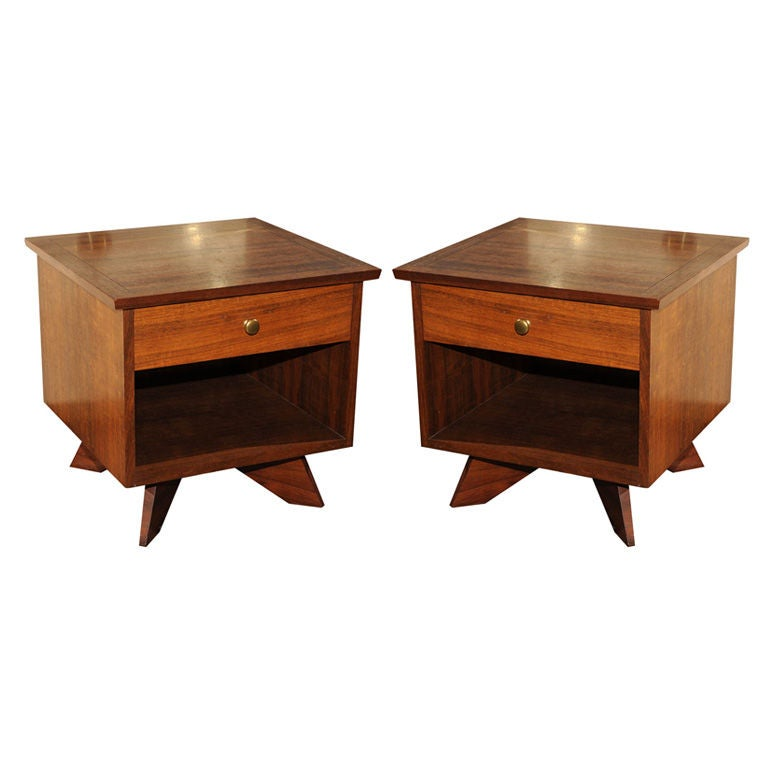 Pair of George Nakashima for Widdi b Side Tables at 1stdibs