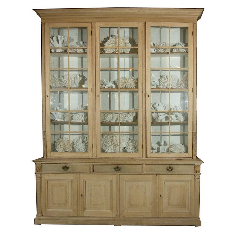 English Limed Oak Bookcase, c. 1880