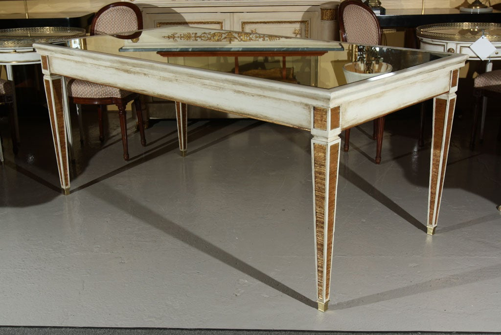 Mirrored Top Painted Dining Centre Table attr Jansen at  : IMG1426 from www.1stdibs.com size 1024 x 684 jpeg 109kB