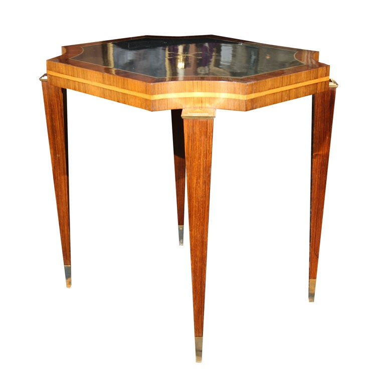 Art deco style side table at 1stdibs - Table de nuit art deco ...