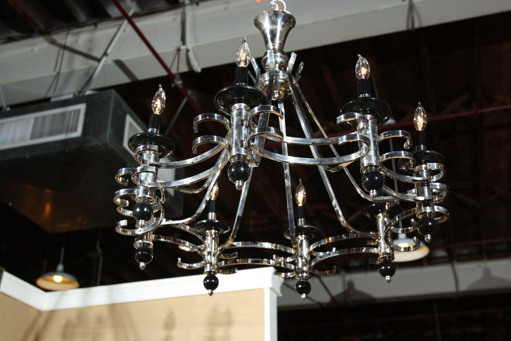 Vintage Art Deco 8 Light Chandelier At 1stdibs