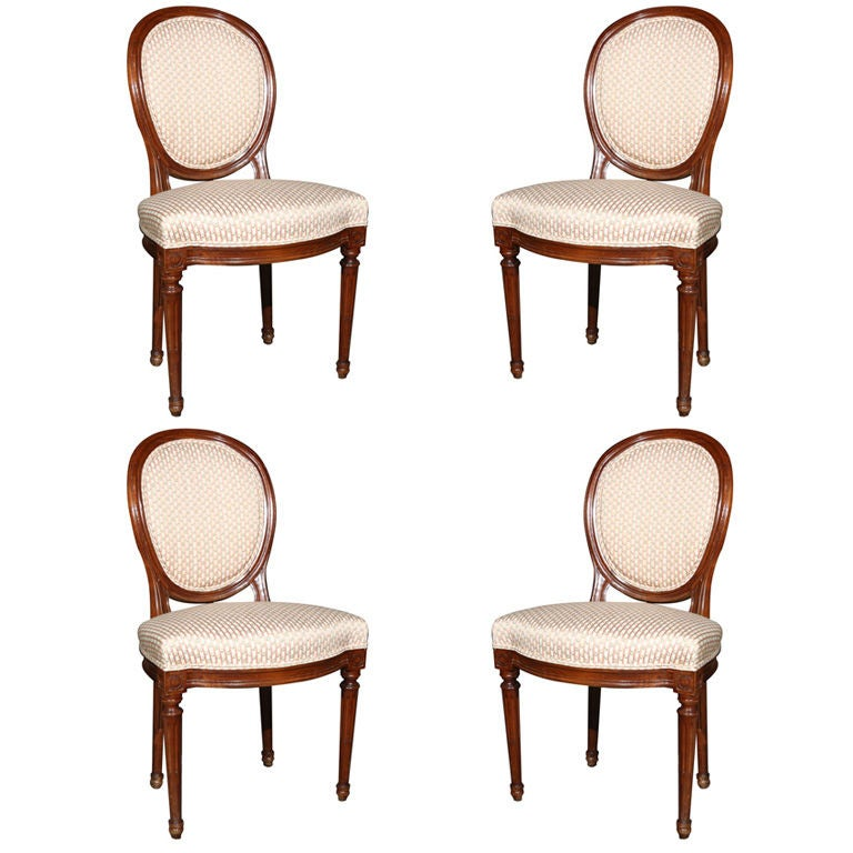 Set Of Four French Louis XIV Style Dining Chairs 1