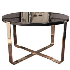 Art Deco Occasional Table with Chromed Base