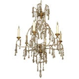 8028 An Italian Iron And Glass Chandelier