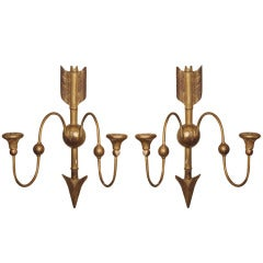 19th Century Pair of Directoire Style Sconces