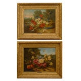 Pair of Italian Paintings, signed by Calvin Giovanni, circa 1850
