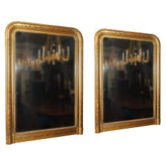 Pair of French Gold Leaf Mirrors