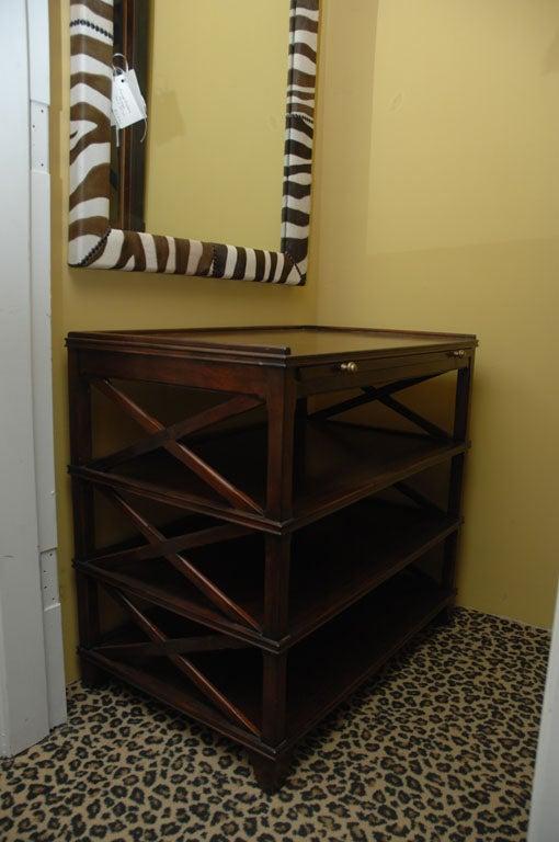 Manhattan End Table Regency Mahogany With Shelf Storage