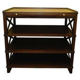 Manhattan End Table Regency Mahogany with Shelf Storage