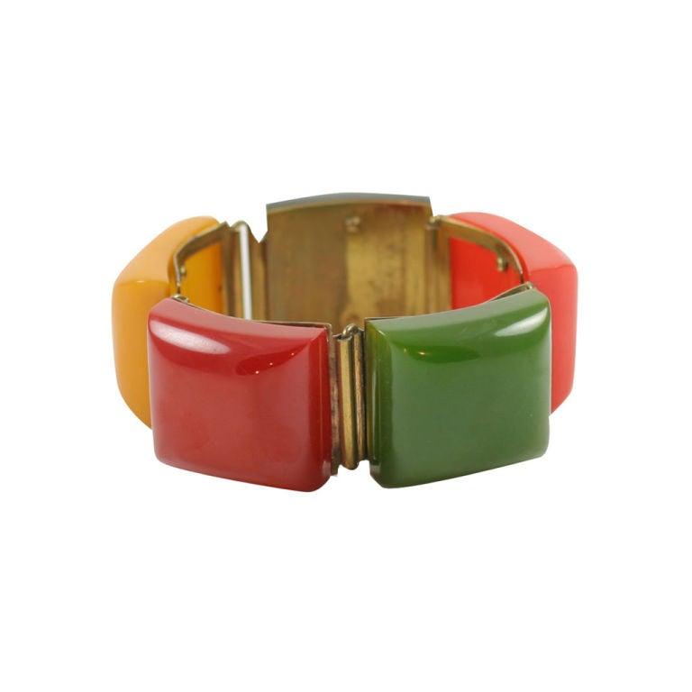 "Bakelite ""Chuckles"" Bracelet For Sale"