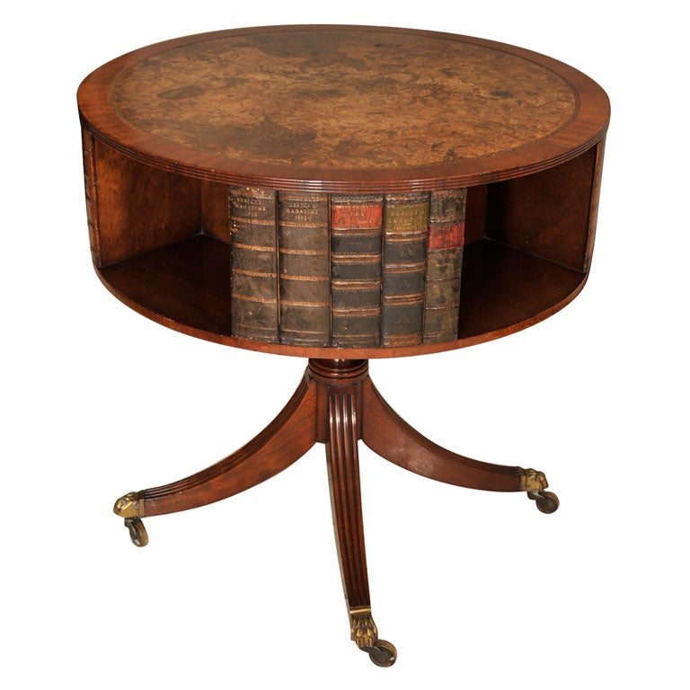 English revolving library table early 20th century at 1stdibs for Revolving end table