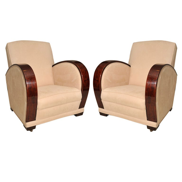 pair art deco club chairs england c 1920 39 s at 1stdibs. Black Bedroom Furniture Sets. Home Design Ideas