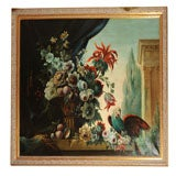Still Life Oil Painting with Parrot