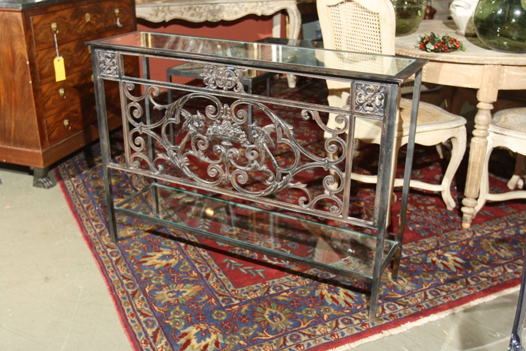 Normandy balcony iron architectural console bird and fruit for Balcony console