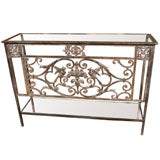 Normandy Balcony Iron Architectural Console Bird and Fruit
